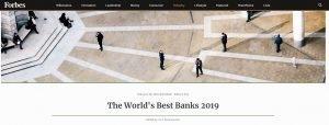 La classifica delle migliori banche 2019 di Forbes